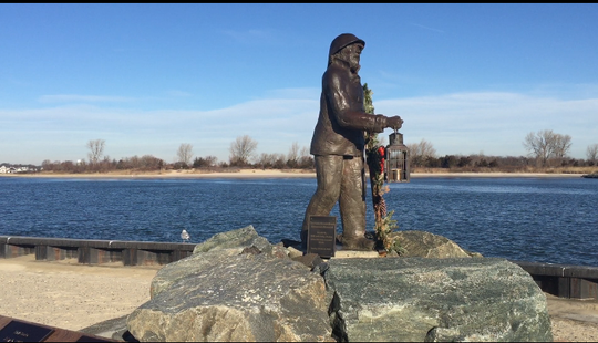 The Fisherman's Memorial at Loughran's Point Park in Point Pleasant Beach.