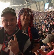 Rob and Jeanne Poulin made the most of their unexpected trip to Super Bowl LIII on Sunday in Atlanta.