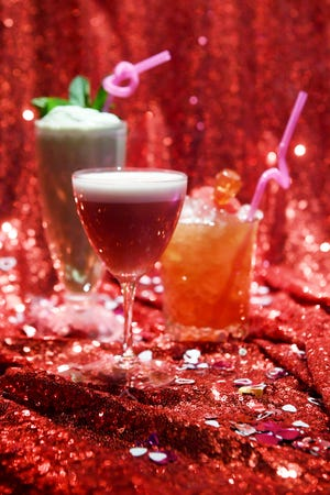Valentine themed cocktails at MG Road Jan. 30, 2019.