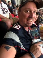 Would you get a Patriots tattoo for free tickets to the Super Bowl. For Boston-area native and Asheville resident Rob Poulin, it was a no-brainer.