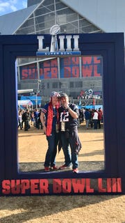 "Rob and Jeanne Poulin made the most of their unexpected trip to Super Bowl LIII on Sunday. It was ""like a dream,"" they said."
