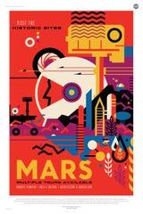 NASA Mars travel poster