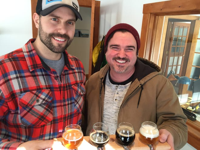 Steve Parker and Brett Seymour of Waitsfield are two of the four partners in Collaborative Brewing Co., which could start selling beer as soon as March.