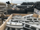 Gear is assembled near the Burlington municipal fishing pier in preparation for installation of a new marina. Photographed on Tuesday, Feb 5, 2019.