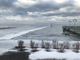 An ice-covered section of a new floating breakwater for the new Burlington Harbor Marina juts about 500 feet into Lake Champlain just south of the city's municipal fishing pier on Tuesday, Feb. 5, 2019.