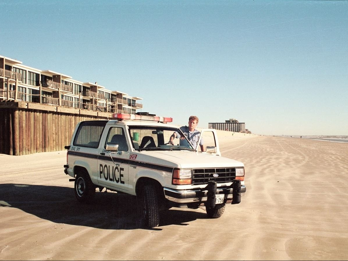 "Corpus Christi police officer Chris Hooper was known as the ""Island Cop"" in the early 2000s."