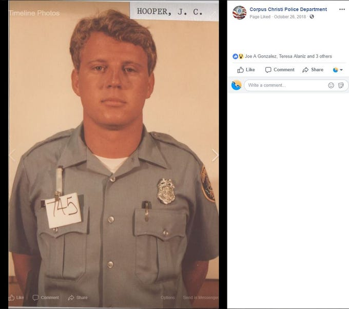 Chris Hooper joined the Corpus Christi Police Department in the 1980s.