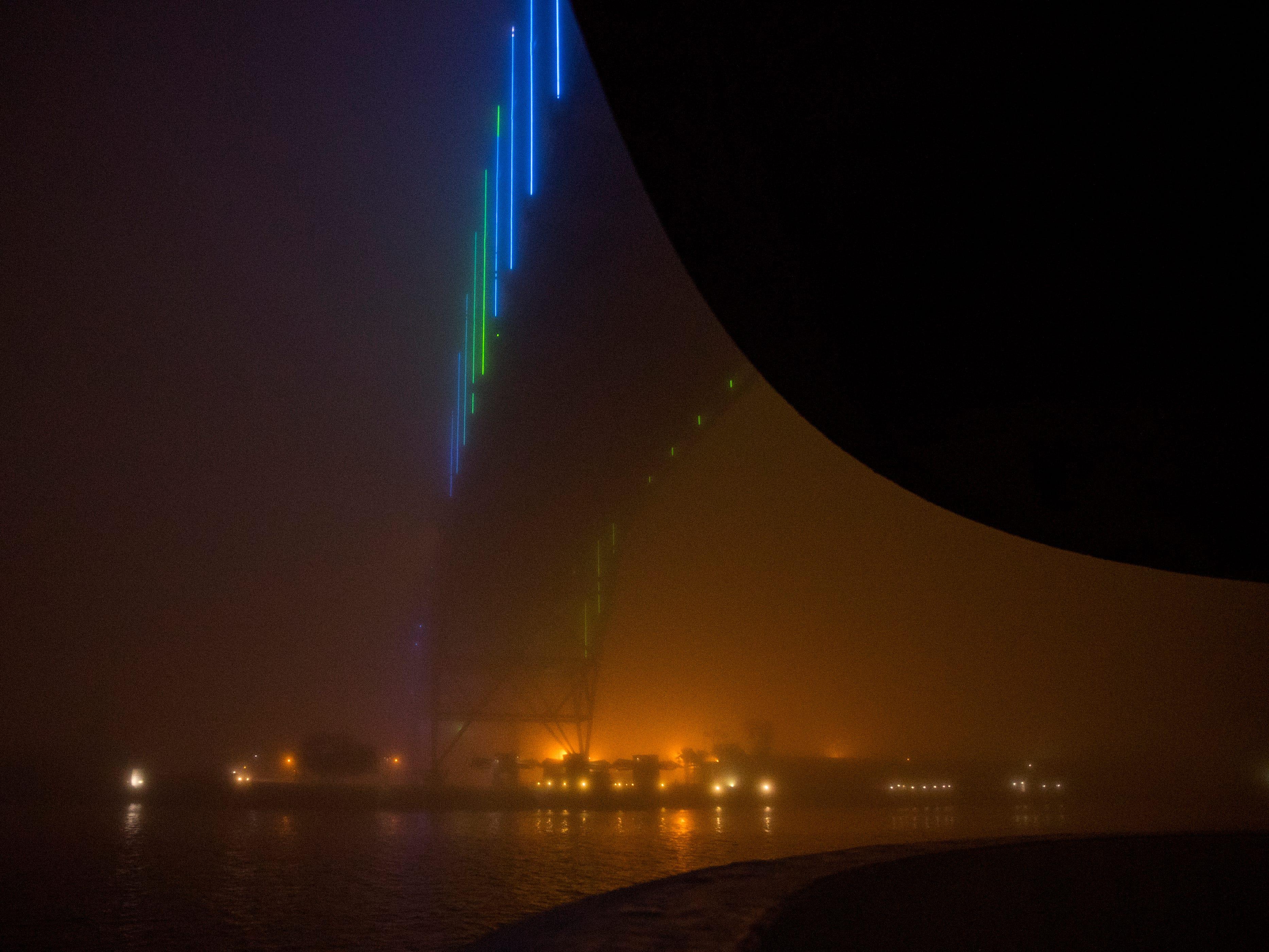 The Harbor Bridge in Corpus Christi was shrouded in fog on Monday, February 4, 2019.