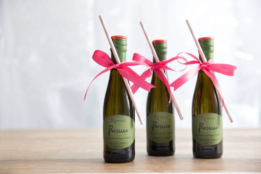Individual bottles of Riondo Prosecco at Seasons 52 are a festive way to raise a glass to Galentine's Day.