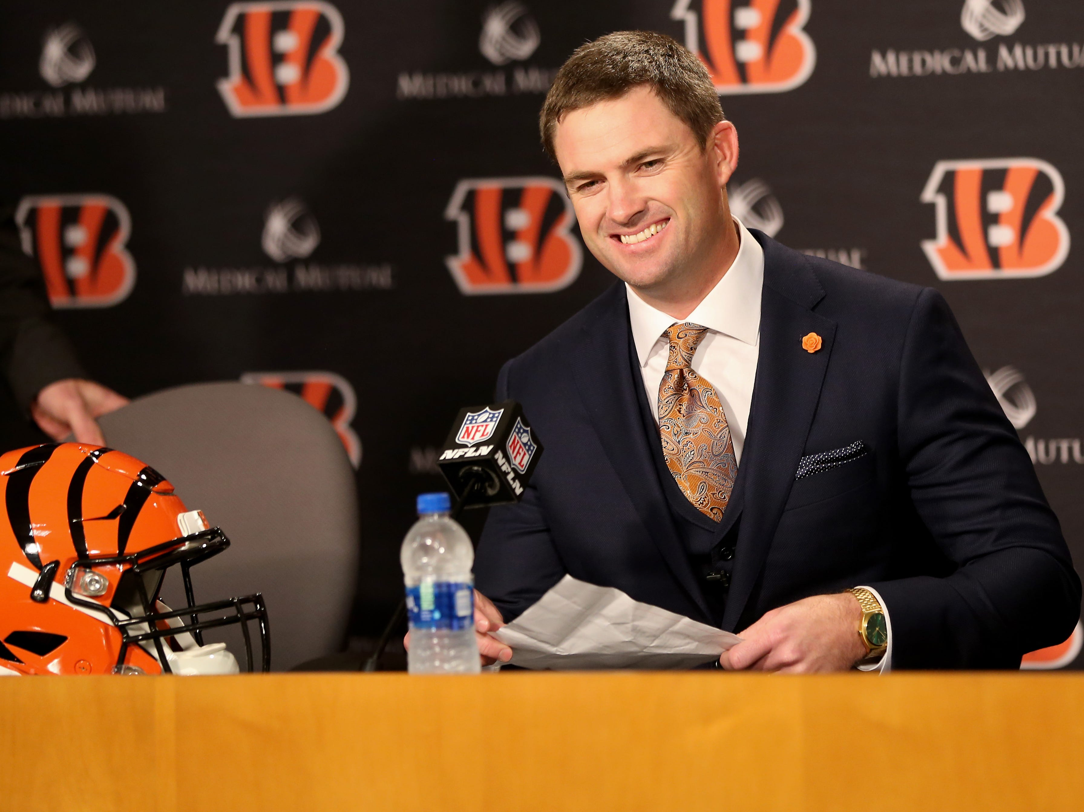 Zac Taylor was named the head coach of the Cincinnati Bengals, Tuesday, Feb. 5. He follows in the footsteps of nine other coaches who have lead the team. Here's a look at their records, listed by their total number of wins.