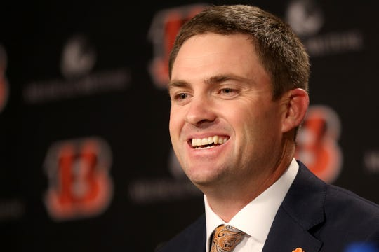 Zac Taylor was named the 10th head coach in Cincinnati Bengals team history, Tuesday, Feb. 5, 2019, at Paul Brown Stadium in Cincinnati.