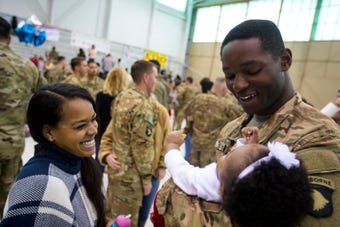 "More than 700 ""Task Force Destiny"" soldiers returned this month from deployment to Afghanistan. Families welcomed home soldiers Tuesday morning after the first ceremony took place Saturday."