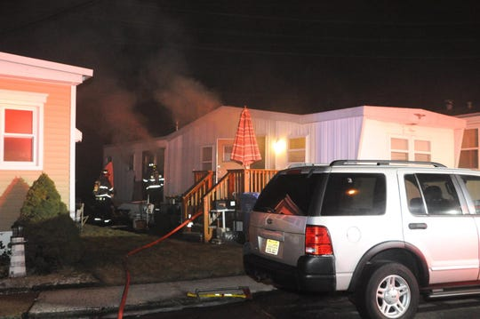 Fire at Ideal Mobile Home park in the Avenel section of Woodbridge