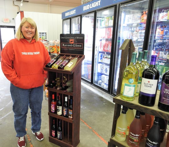 Danyelle Darr and her husband, Terry, recently moved the M2 Drive-Thru about half a block away to a larger, more accessible location on South Seventh Street. They sell some regional items such as Conn's Potato Chips and Raven's Glenn Wine. Pizza and subs should be added in the next few weeks.