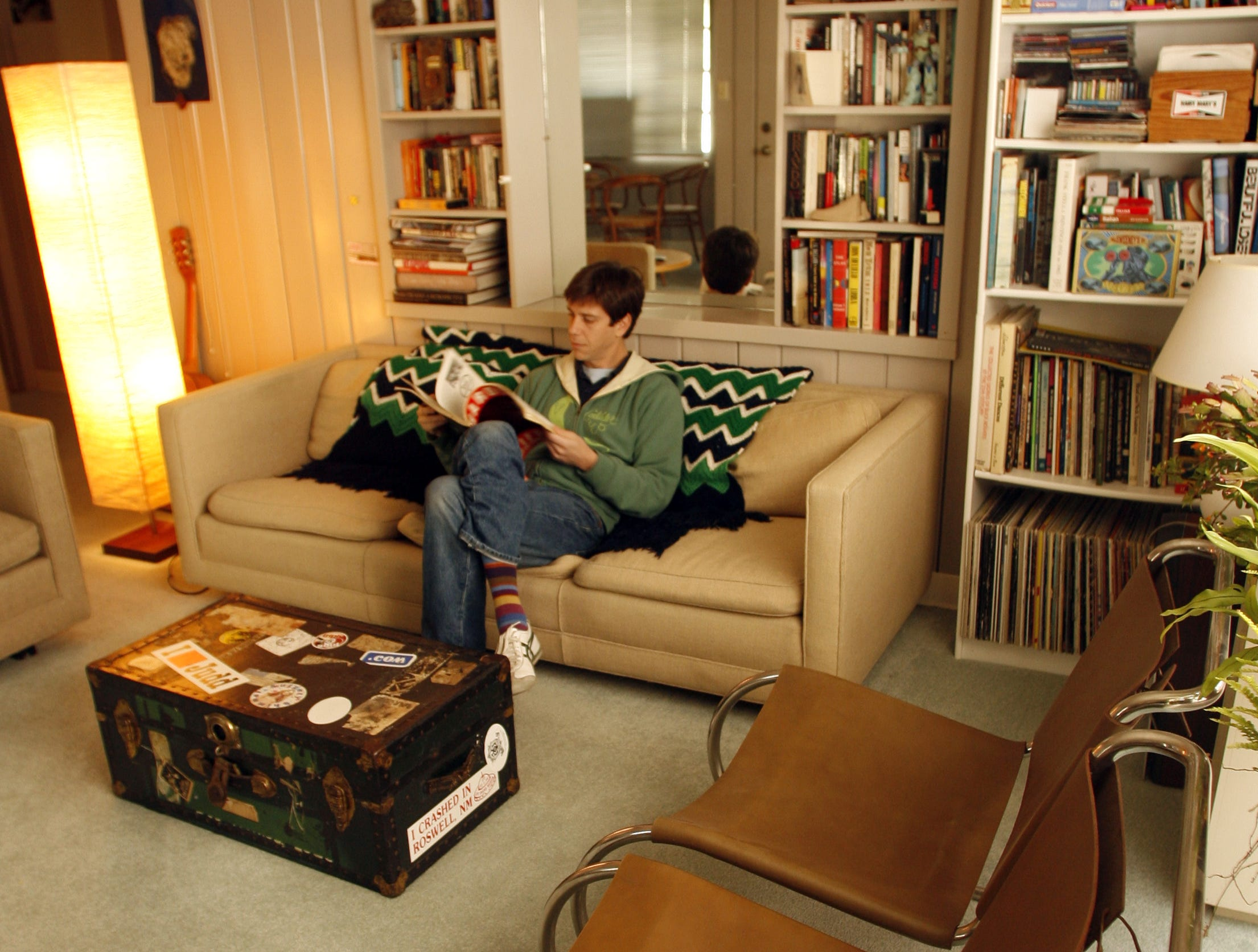 Alex Brown in his Lustron home in Des Moines in a 2006 file photo. Des Moines has the distinction of being one of the first cities in the nation where Lustron Corp.'s five-room all-metal houses were erected.