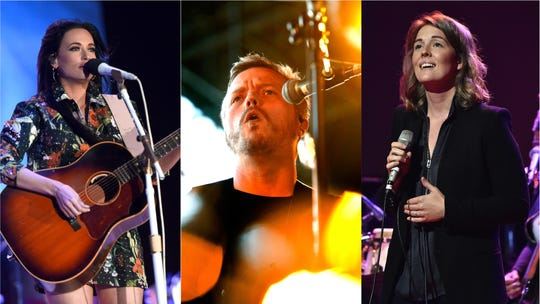 Kacey Musgraves (left), Jason Isbell and Brandi Carlile lead the 2019 Hinterland Music Festival lineup.