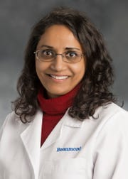 Dr. Trini Mathew, medical director of hospital epidemiology and infection control at Beaumont Hospital Royal Oak.