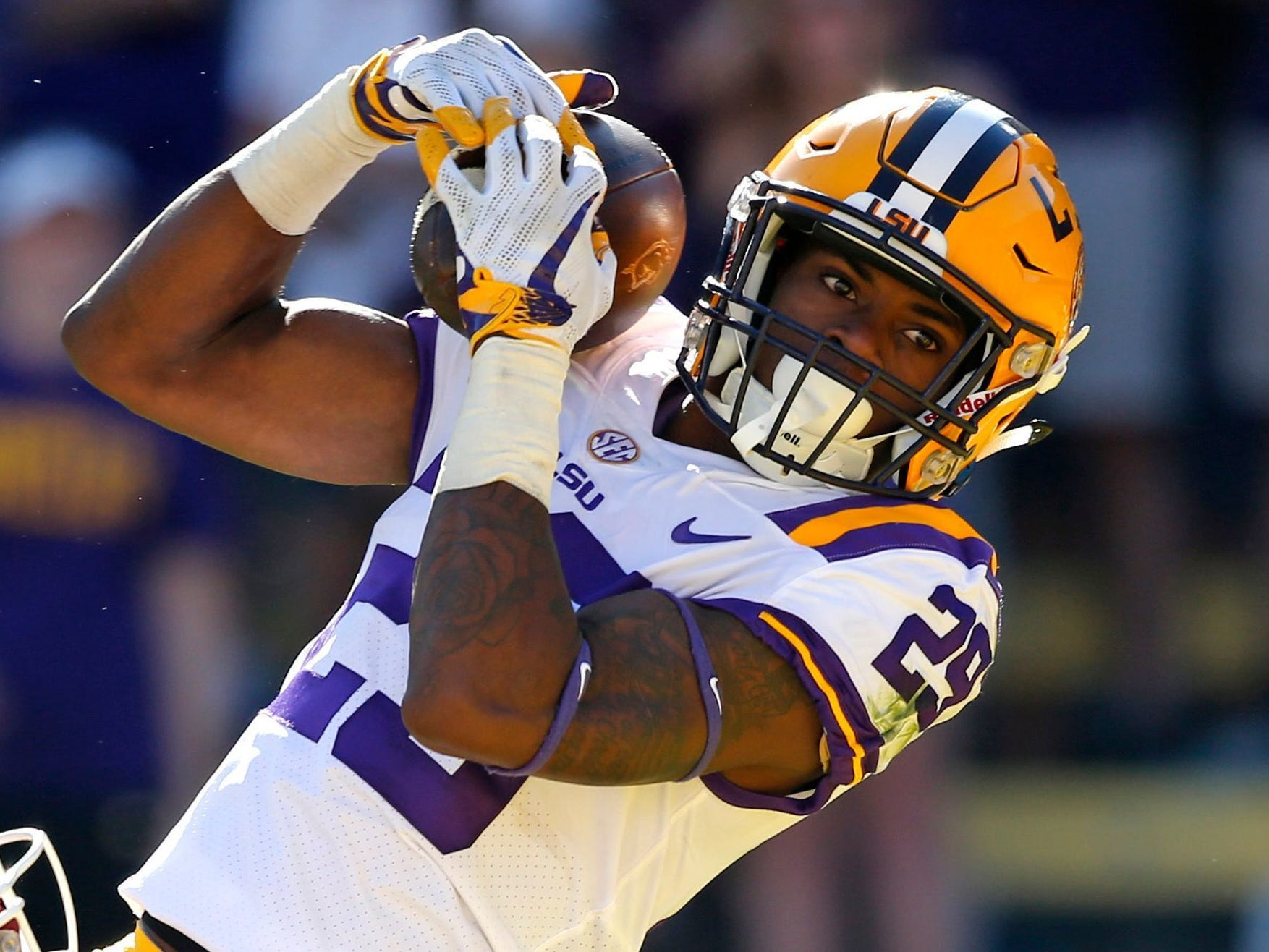 CB Greedy Williams, LSU: Williams is the No. 1 cornerback in this class and the Lions could use a cover man to play opposite Darius Slay. At 6 feet 3, he's got tantalizing traits, though his aversion to run support seems counter to what Patricia wants.