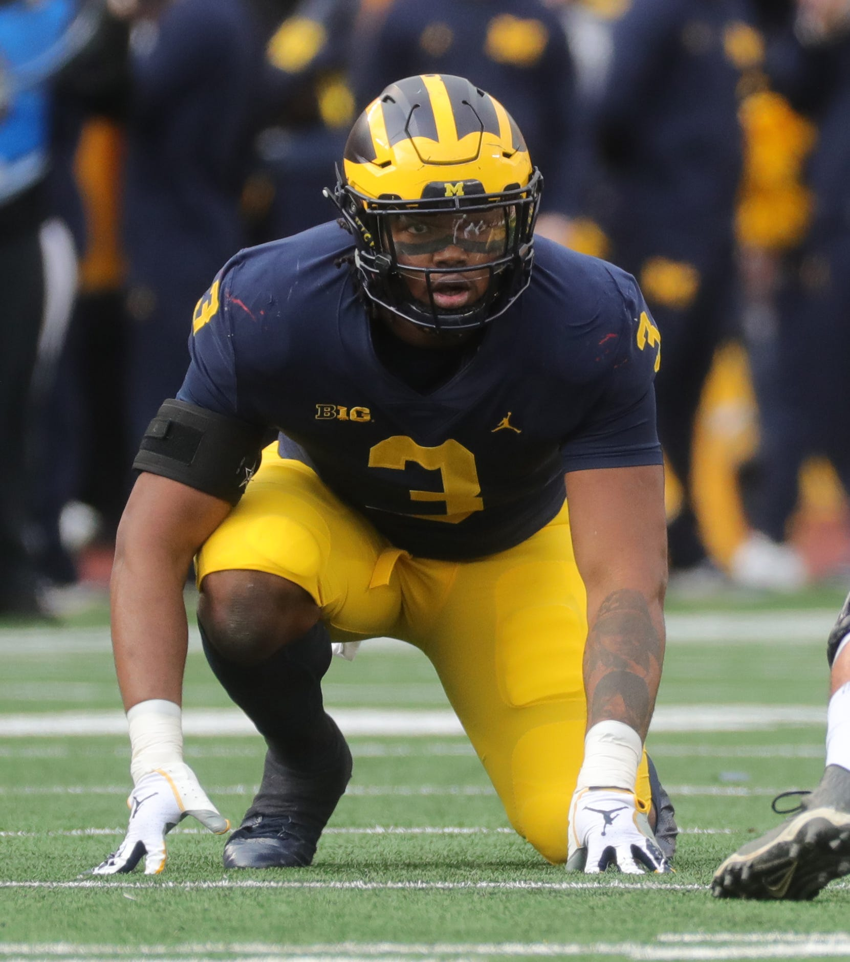 DE Rashan Gary, Michigan: Gary didn't have a great 2018 season with just 3.5 sacks, and he appeared to coast at times with the draft on his mind. But he's a big-time talent who could play end or tackle in Matt Patricia's defense.