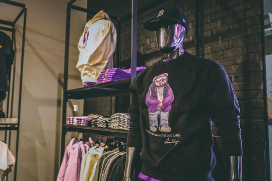 The Dirt Label's line is a partnership with Footlocker. Products are sold at the new Footlocker location in Eastpointe.
