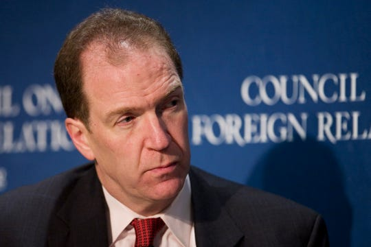 FILE - In this 2007 file photo, David Malpass, then the Chief Economist at Bear, Stearns & Co. Inc., speaks at the Council on Foreign Relations in New York. President Donald Trump plans to nominate Malpass, an administration critic of the World Bank, to be the institution's next leader. (AP Photo/Mark Lennihan)