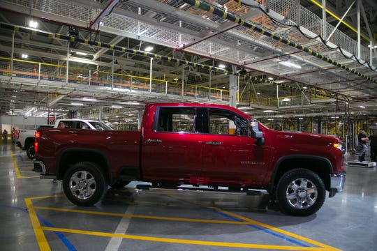 An all-new 2020 Chevrolet Silverado Heavy Duty LTZ is seen during a reveal at Flint Assembly in Flint on Tuesday, February 5, 2019.