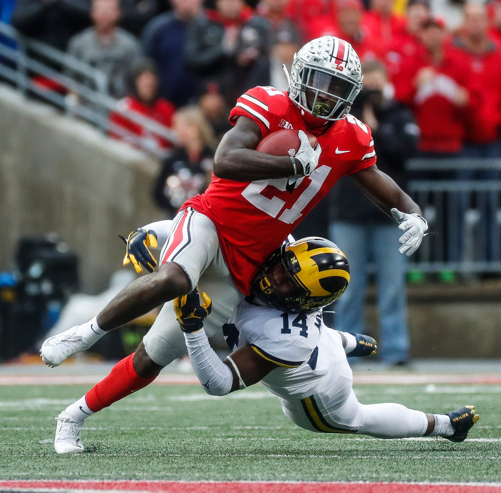 Parris Campbell was productive playing out of the slot for the Buckeyes, and the Lions need a replacement for Golden Tate.