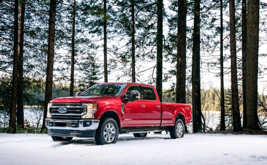 The Ford F-250 King Ranch Super Duty pickup truck