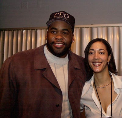 Kwame Kilpatrick and Christine Beatty in 2001, after Kilpatrick won his mayoral election.