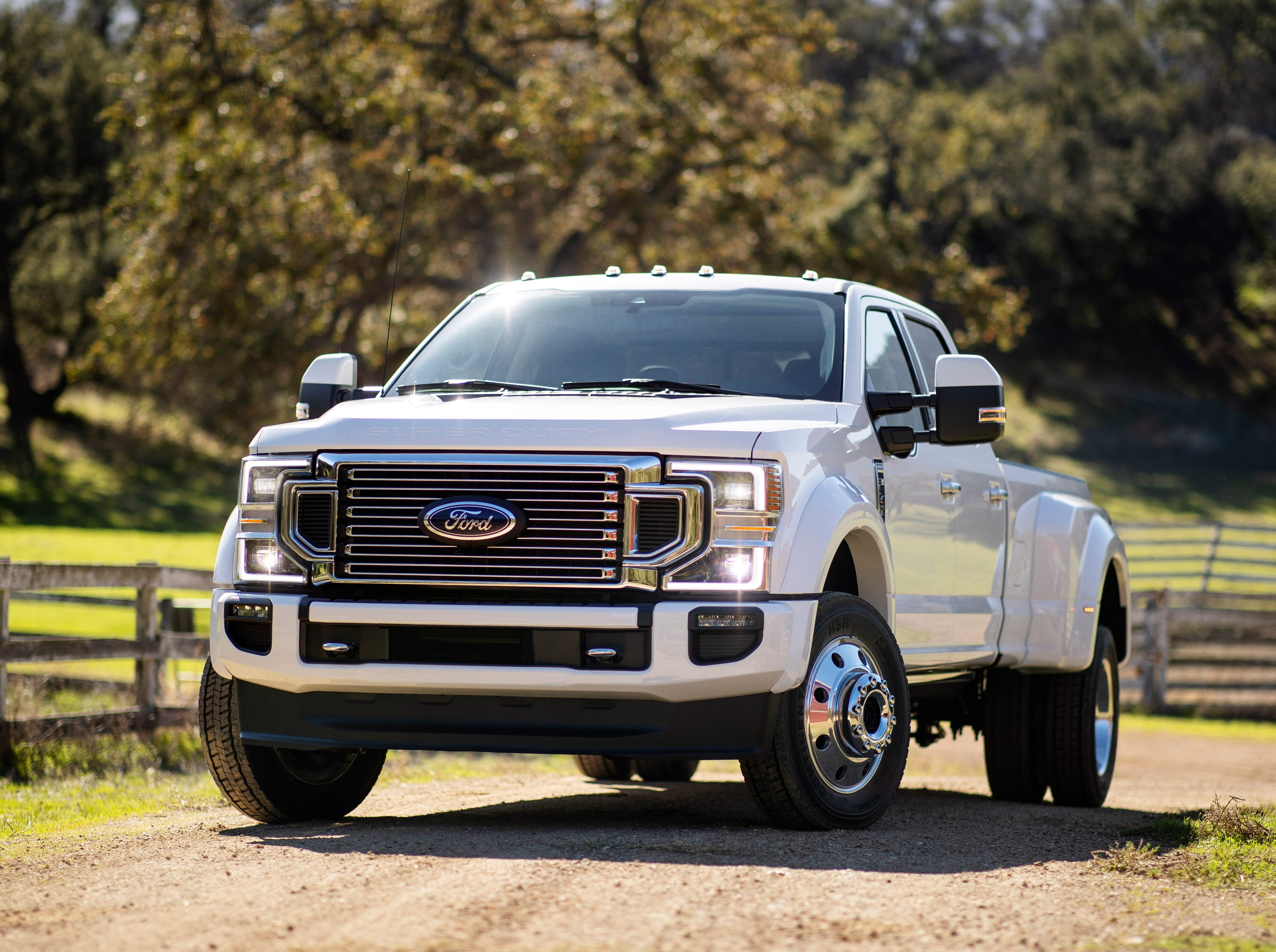 The Ford F-450 Limited Super Duty pickup truck