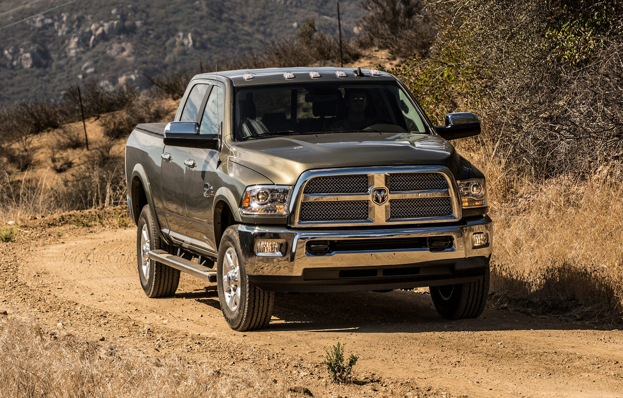Fiat Chrysler is recalling over 660,000 heavy-duty trucks worldwide, including the 2016 Ram 2500 Laramie Longhorn Crew Cab 4/4 Heavy Duty, shown, because a loose nut can cause a loss of steering control.