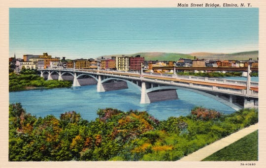 A postcard view of the then-new Main Street bridge circa 1925.