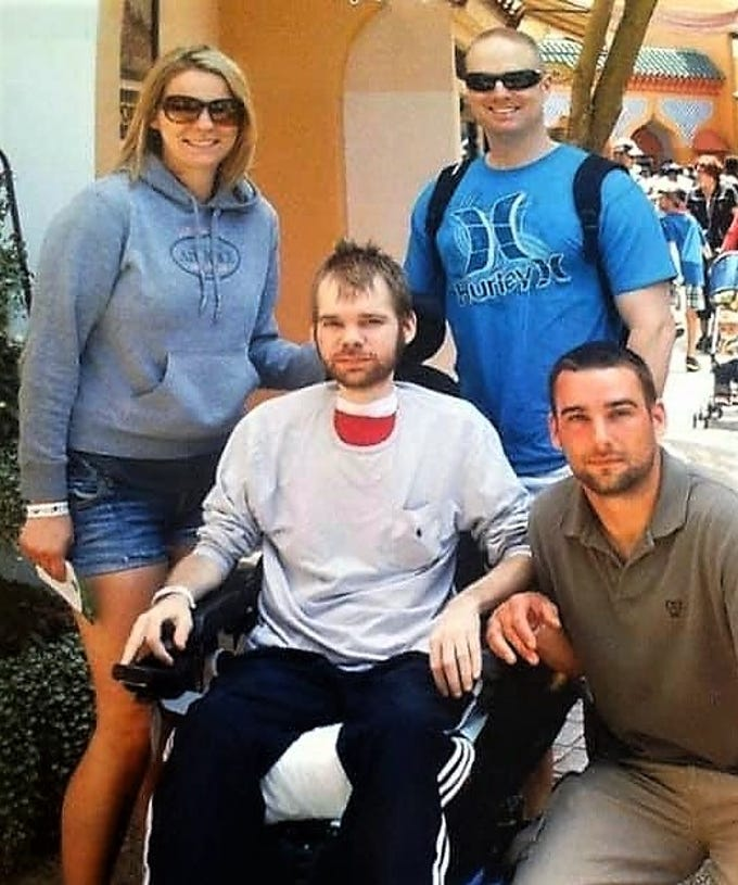 Alan Ramsay of Horseheads has the support of family and friends in his battle against muscular dystrophy.