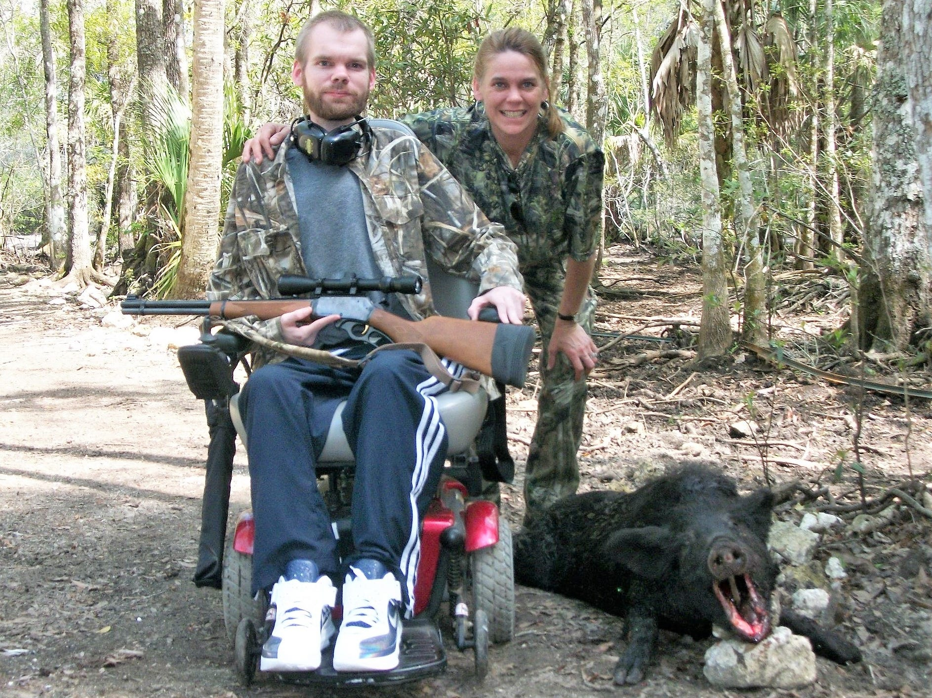 Despite being impaired by muscular dystrophy, Alan Ramsay shared a passion for hunting and outdoor activities with his mother Stacy Evans.