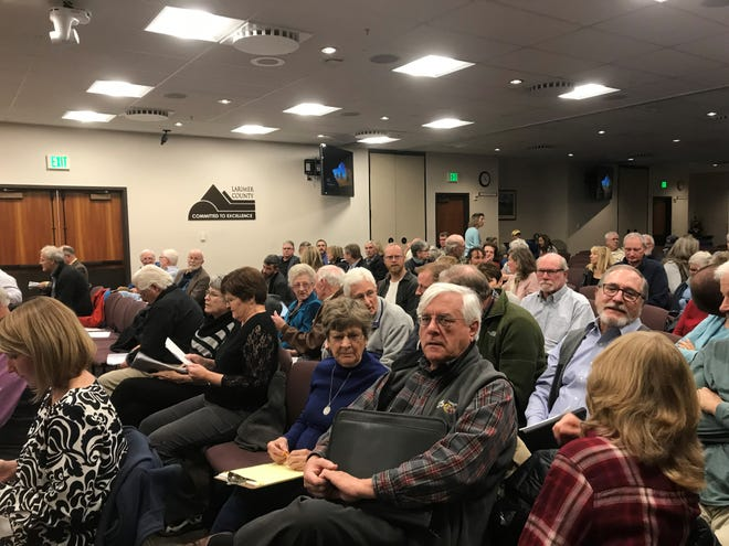 Public comment on the modified Thornton pipeline route took place Monday, Feb. 4 at 200 W. Oak St.