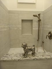 The home even has a dog wash room.