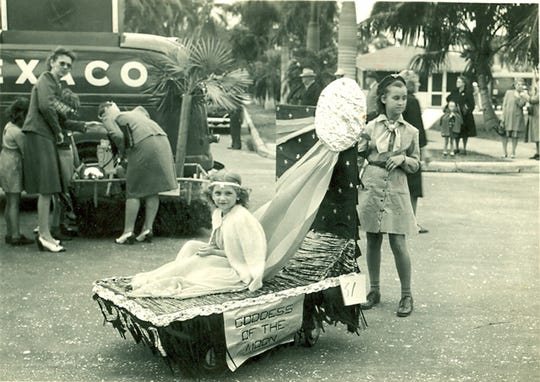 """Diane Maddox appeared as the """"Goddess of the Moon"""" in the very first Edison Junior Parade in 1946. Now she organizes the annual kids parade."""