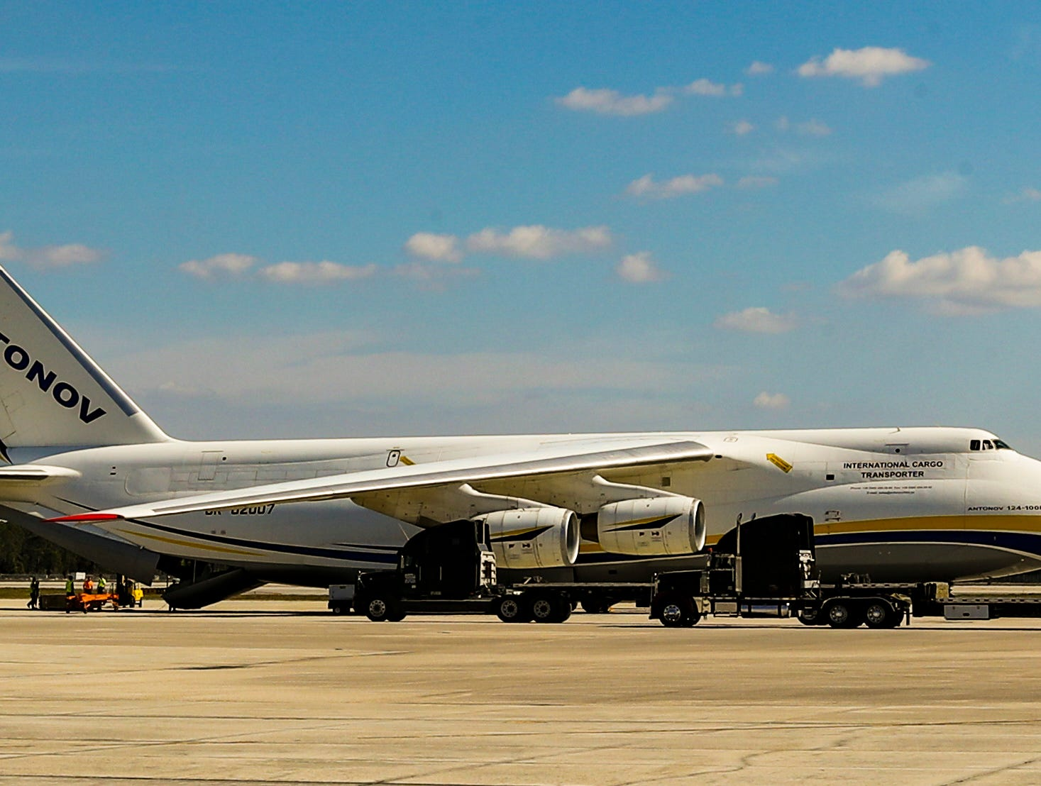 Southwest Florida got the chance to observe one of the largest aircraft in the world, a Russian-made Antonov An-124, land and unload cargo at Southwest Florida International Airport in Fort Myers on Tuesday, Feb. 5, 2019. The Antonov can carry up to 170 tons of cargo and up to 88 passengers.