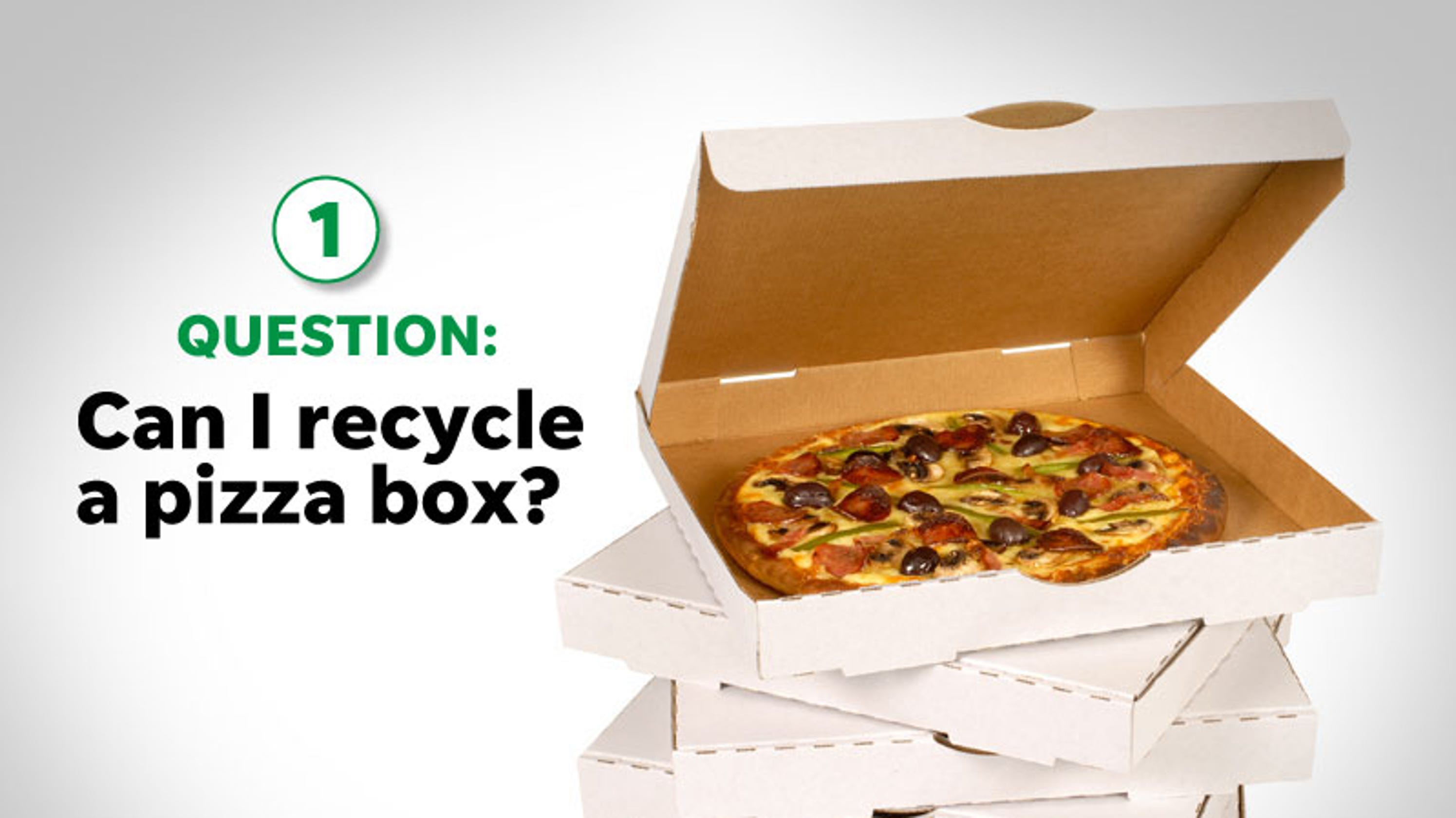 Can I Recycle A Pizza Box? How About Plastic Bags?