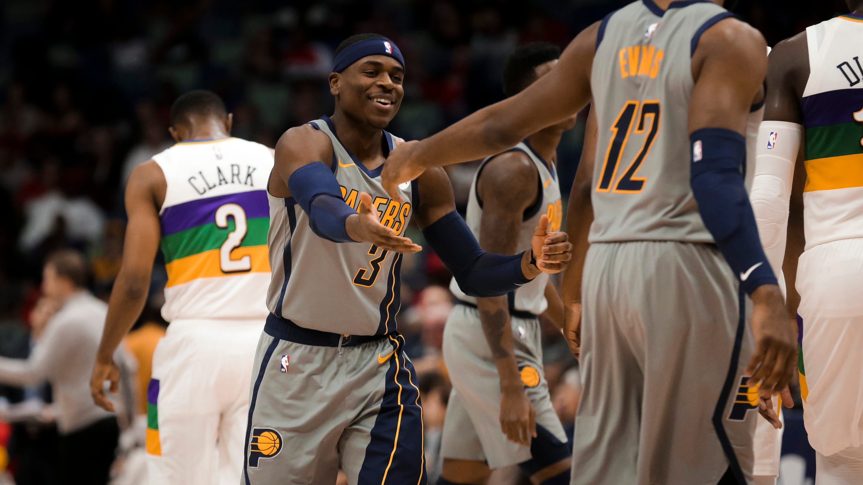 san francisco 67b8f 8153e Oh, brother: Pacers' Aaron Holiday blasts past Jrue Holiday