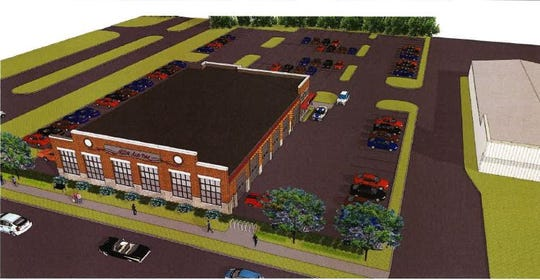 Rendering of the relocated Miller Auto on Rangeline Road in Carmel