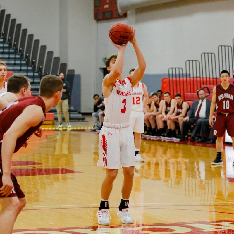 'I knew it had been a while since I had missed one.' Wabash player sets consecutive free throw record