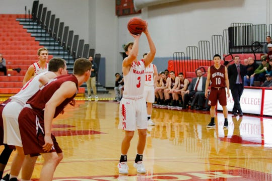 Wabash College's Jack Davidson says he keeps his routine simple when shooting free throws.