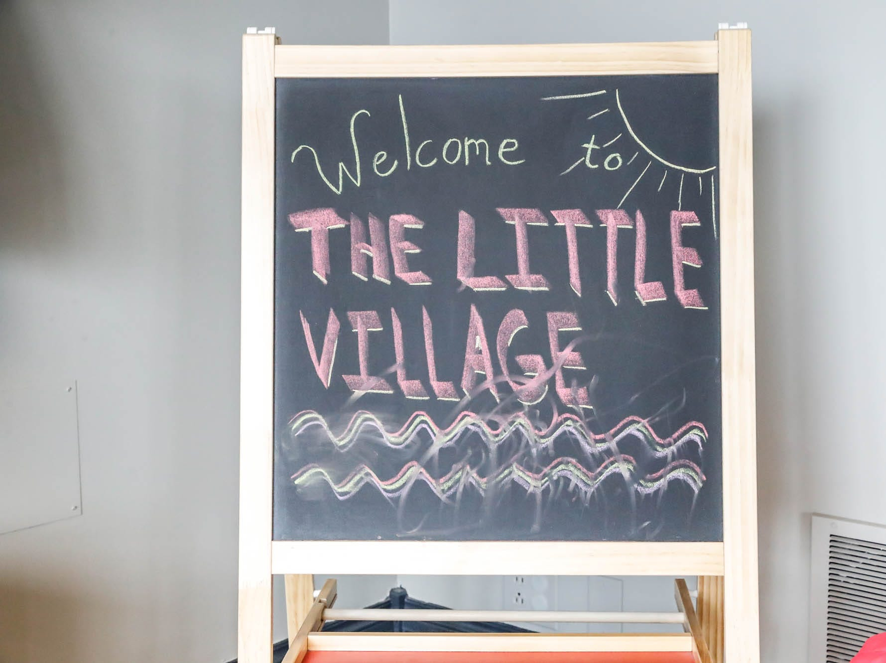 A sign welcomes guests to The Little Village Playroom, 9850 N. Michigan Rd, Carmel, Ind., on Tuesday, Feb. 5, 2019.