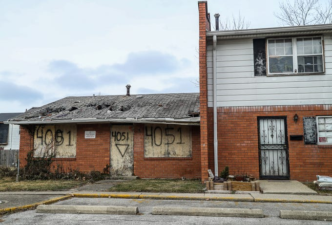 At Towne and Terrace, a 1960s housing complex off of 42nd Street and Post Road, half of the deteriorating 222 units are empty or abandoned, as seen Saturday, Dec. 8, 2018. Towne and Terrace is one of many housing providers that lowered prices to attract residents to the northeast side after the Fort Benjamin Harrison military base closed in 1991. The complex has since become concentrated with systematic crime and violence.