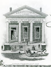 The Tompkins Trust Co. has a long and illustrious history, as this mid-19th century engraving attests.