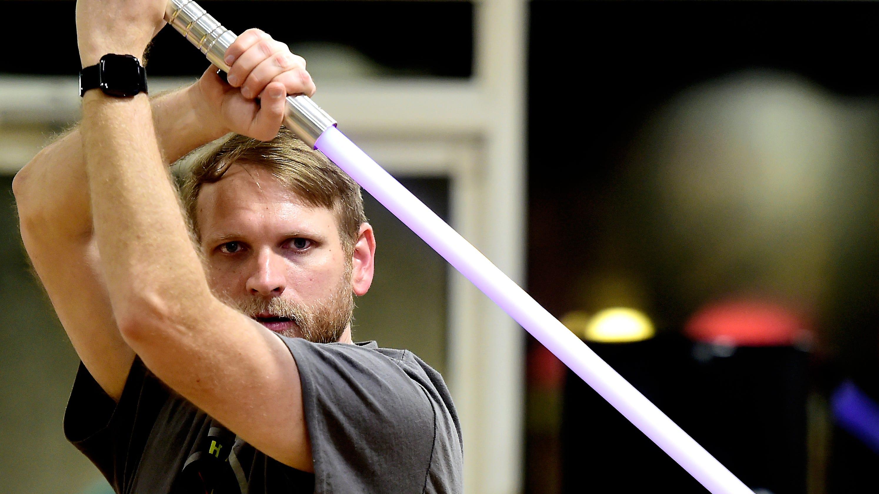Light or dark side? Ithaca Sabers teaches 'Star Wars