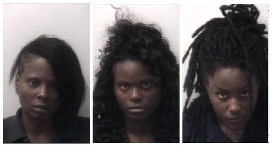Arlene McFadden-Pugh, 38, Zyaire Lewis, 19, and Nissan Mitchell, 21, were arrested at North Parkway Middle School in Jackson, Tenn. Monday after a discussion escalated into an altercation in the school's office.