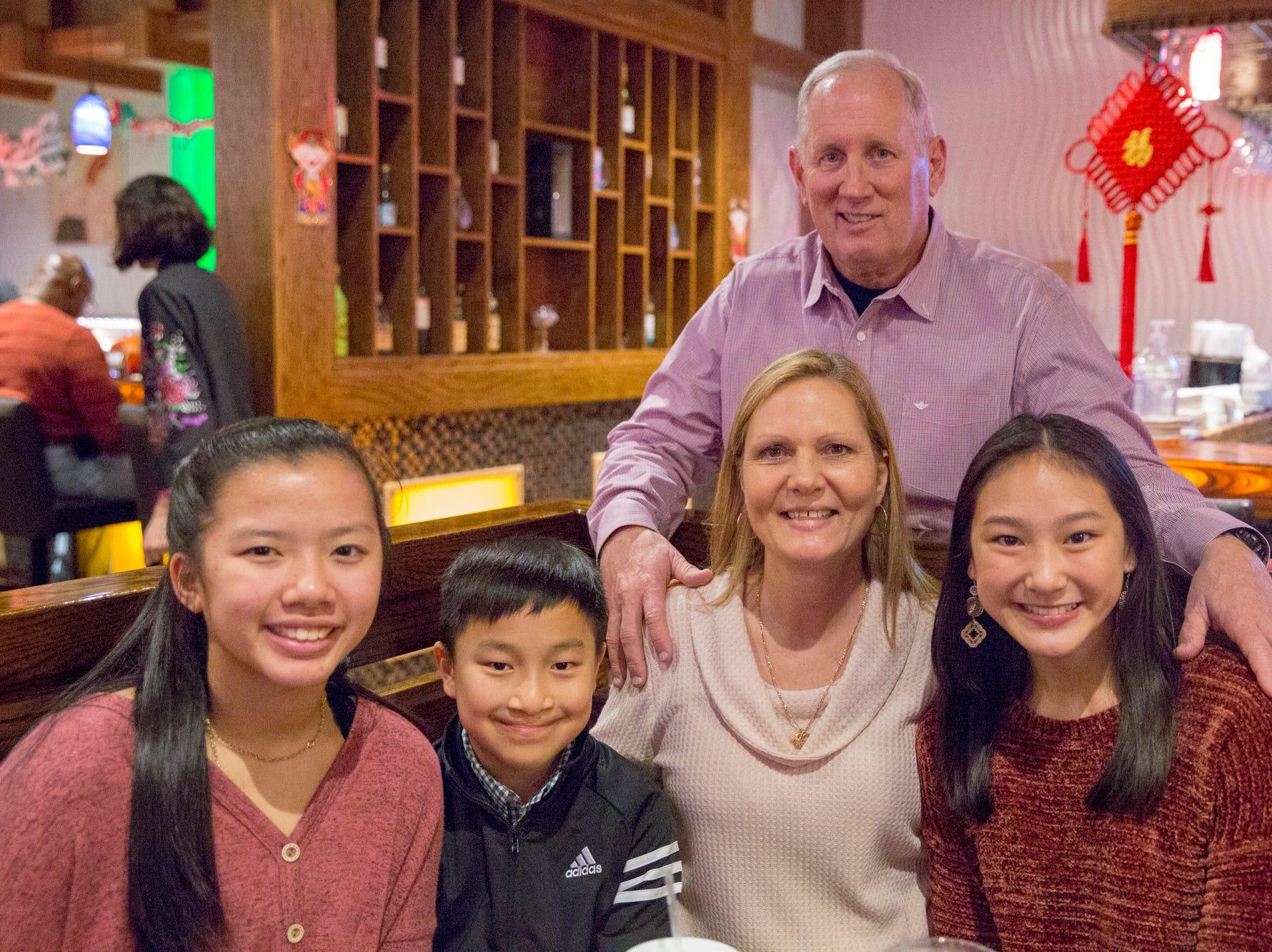 Emily Gill, 16  John Gill, 11, Rosemary and Joe Gill, Caitlin Gill 14