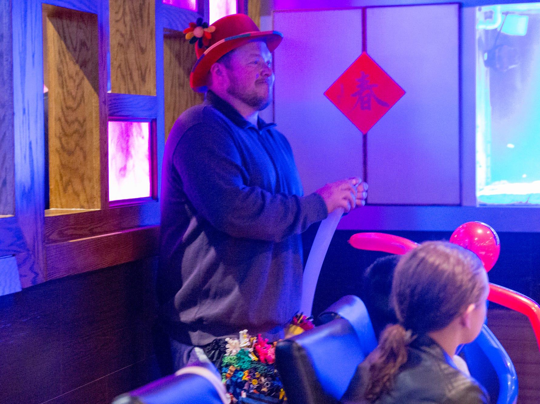 Terry Scott made ballon animals for the kids